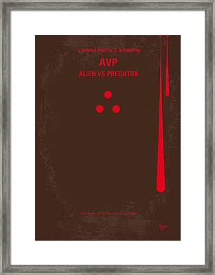 No148 My Avp Minimal Movie Poster Framed Print by Chungkong Art
