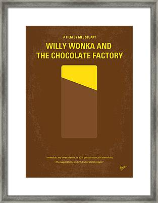 No149 My Willy Wonka And The Chocolate Factory Minimal Movie Poster Framed Print