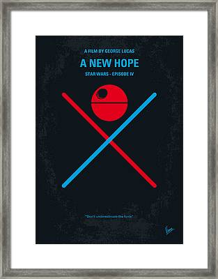 No154 My Star Wars Episode Iv A New Hope Minimal Movie Poster Framed Print