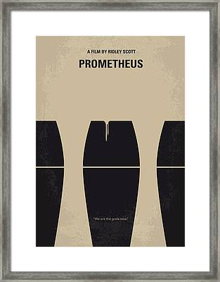 No157 My Prometheus Minimal Movie Poster Framed Print