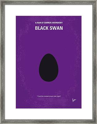 No162 My Black Swan Minimal Movie Poster Framed Print