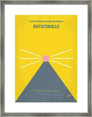 No163 My Ratatouille Minimal Movie Poster  Framed Print by Chungkong Art