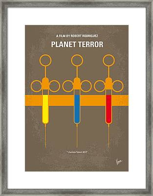 No165 My Planet Terror Minimal Movie Poster Framed Print by Chungkong Art
