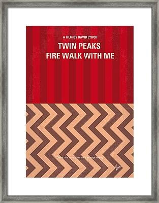 No169 My Fire Walk With Me Minimal Movie Poster Framed Print