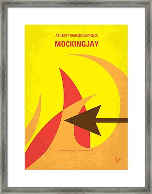 No175-3 My Mockingjay - The Hunger Games Minimal Movie Poster Framed Print by Chungkong Art