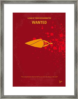 No176 My Wanted Minimal Movie Poster Framed Print by Chungkong Art