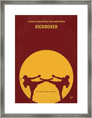 No178 My Kickboxer Minimal Movie Poster Framed Print