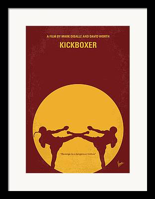 Kickboxing Framed Prints