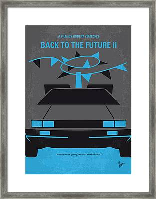 No183 My Back To The Future Minimal Movie Poster-part II Framed Print