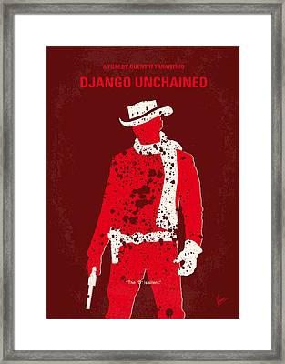 No184 My Django Unchained Minimal Movie Poster Framed Print