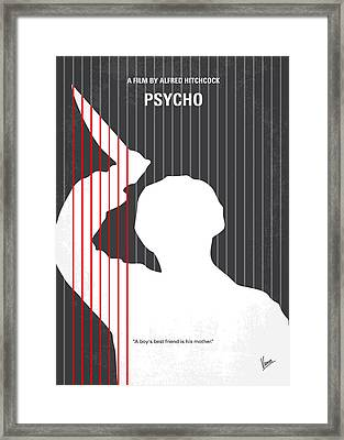 No185 My Psycho Minimal Movie Poster Framed Print