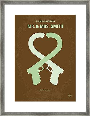 No187 My Mr And Mrs. Smith Minimal Movie Poster Framed Print by Chungkong Art