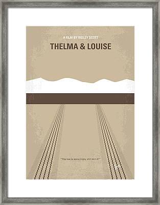 No189 My Thelma And Louise Minimal Movie Poster Framed Print by Chungkong Art