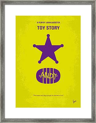 No190 My Toy Story Minimal Movie Poster Framed Print