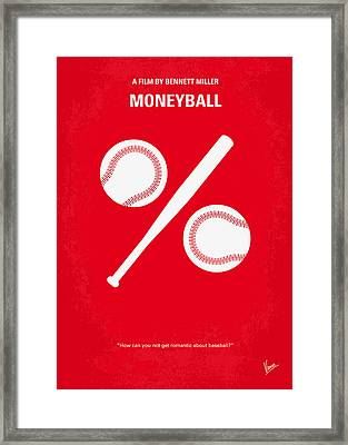 No191 My Moneyball Minimal Movie Poster Framed Print