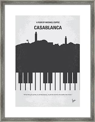 No192 My Casablanca Minimal Movie Poster Framed Print