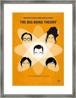 No196 My The Big Bang Theory Minimal Poster Framed Print