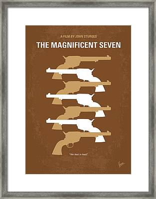 No197 My The Magnificent Seven Minimal Movie Poster Framed Print by Chungkong Art