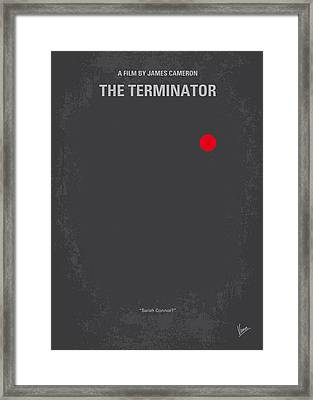 No199 My Terminator Minimal Movie Poster Framed Print by Chungkong Art