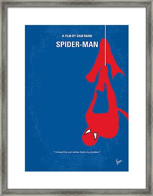 No201 My Spiderman Minimal Movie Poster Framed Print by Chungkong Art