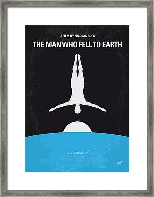 No208 My The Man Who Fell To Earth Minimal Movie Poster Framed Print