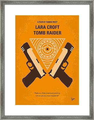 No209 Lara Croft Tomb Raider Minimal Movie Poster Framed Print by Chungkong Art