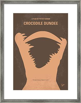 No210 My Crocodile Dundee Minimal Movie Poster Framed Print by Chungkong Art