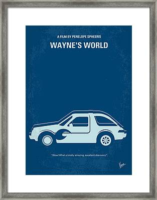 No211 My Waynes World Minimal Movie Poster Framed Print by Chungkong Art