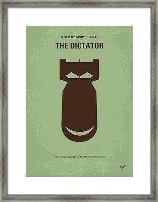 No212 My The Dictator Minimal Movie Poster Framed Print by Chungkong Art