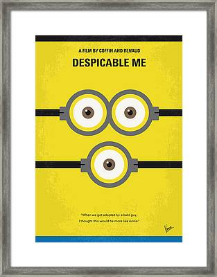 No213 My Despicable Me Minimal Movie Poster Framed Print by Chungkong Art