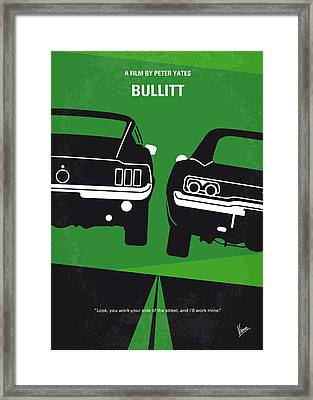 No214 My Bullitt Minimal Movie Poster Framed Print