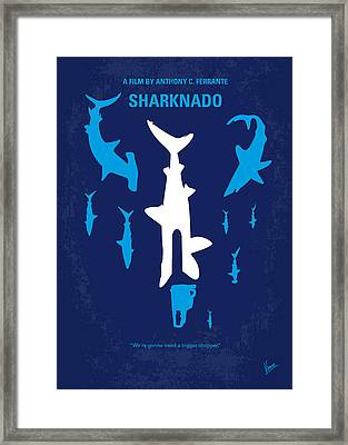No216 My Sharknado Minimal Movie Poster Framed Print by Chungkong Art