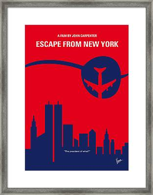 No219 My Escape From New York Minimal Movie Poster Framed Print by Chungkong Art