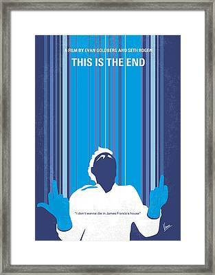 No220 My This Is The End Minimal Movie Poster Framed Print