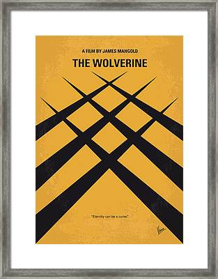 No222 My Wolverine Minimal Movie Poster Framed Print