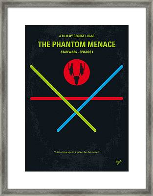 No223 My Star Wars Episode I The Phantom Menace Minimal Movie Poster Framed Print