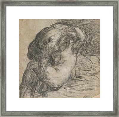Couple In An Embrace Framed Print by Titian