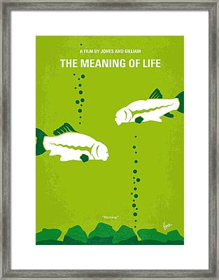 No226 My The Meaning Of Life Minimal Movie Poster Framed Print