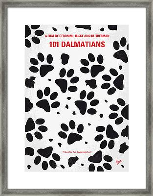 No229 My 101 Dalmatians Minimal Movie Poster Framed Print