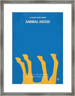 No230 My Animal House Minimal Movie Poster Framed Print by Chungkong Art