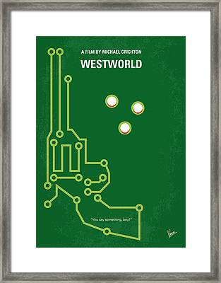 No231 My Westworld Minimal Movie Poster Framed Print