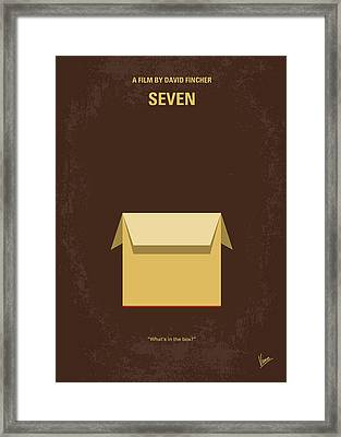 No233 My Seven Minimal Movie Poster Framed Print