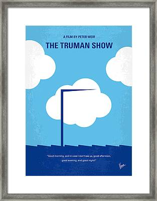No234 My Truman Show Minimal Movie Poster Framed Print by Chungkong Art