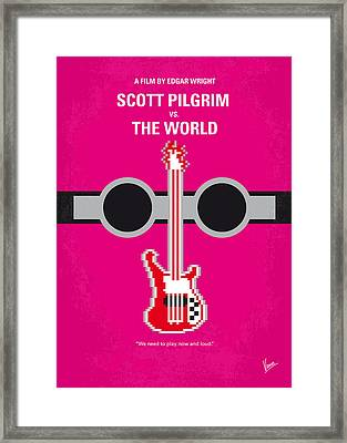 No236 My Scott Pelgrim Minimal Movie Poster Framed Print