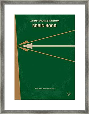 No237 My Robin Hood Minimal Movie Poster Framed Print by Chungkong Art