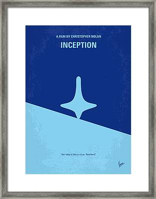 No240 My Inception Minimal Movie Poster Framed Print by Chungkong Art