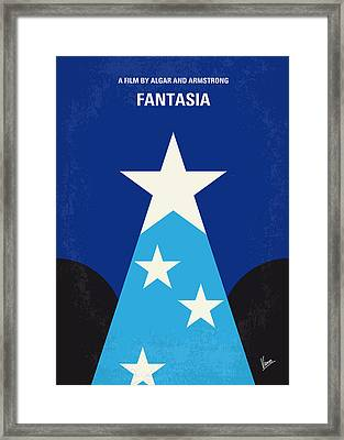 No242 My Fantasia Minimal Movie Poster Framed Print