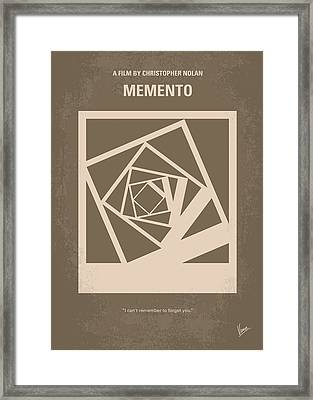 No243 My Memento Minimal Movie Poster Framed Print by Chungkong Art