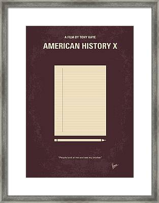 No247 My American History X Minimal Movie Poster Framed Print