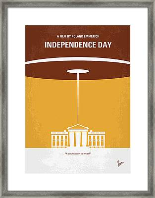 No249 My Independence Day Minimal Movie Poster Framed Print by Chungkong Art